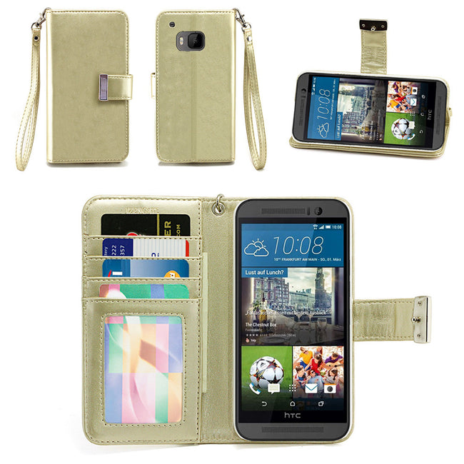 HTC One M9 Wallet Phone Case Flip Cover