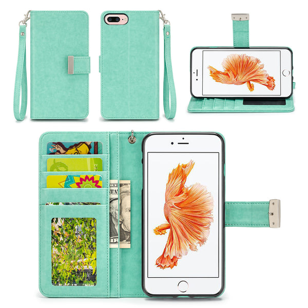 Apple iPhone 7 Plus Wallet Phone Case Flip Cover