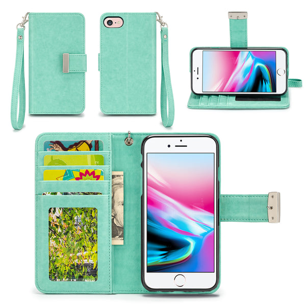 Apple iPhone 8 Wallet Phone Case Flip Cover