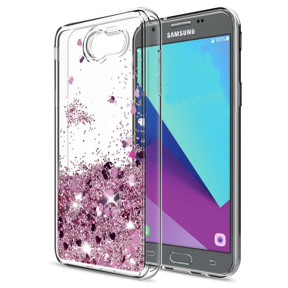 new style 81a34 622bd Samsung Galaxy J3 Eclipse Waterfall Glitter Phone Case Cover