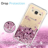 Samsung Galaxy J3 / J3 V Waterfall Glitter Phone Case Cover