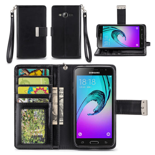 Samsung Galaxy Express Prime / Amp Prime Wallet Phone Case Flip Cover