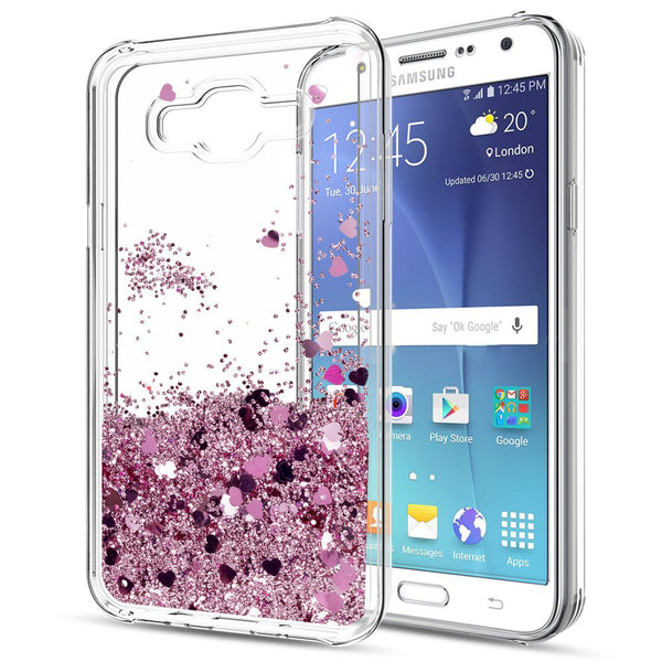 promo code 3038e 9944f Samsung Galaxy J7 Waterfall Glitter Phone Case Cover