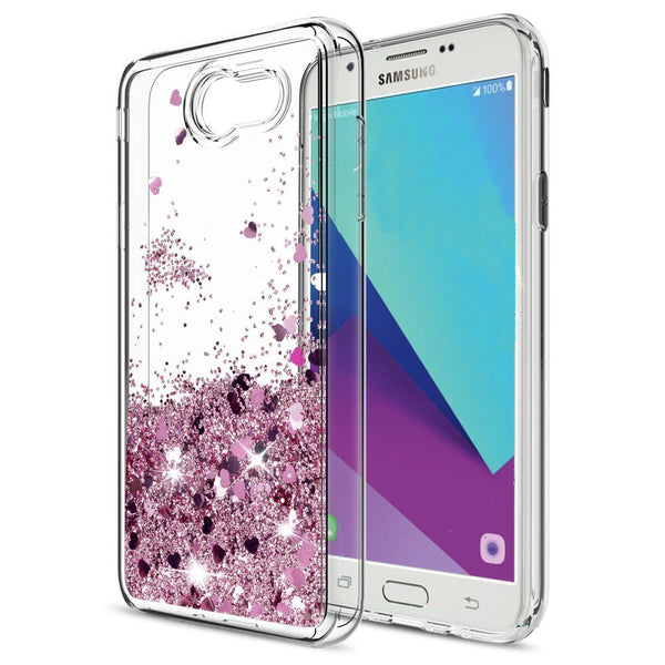 quality design 6b9a1 686e2 Samsung Galaxy J7 Prime Waterfall Glitter Phone Case Cover