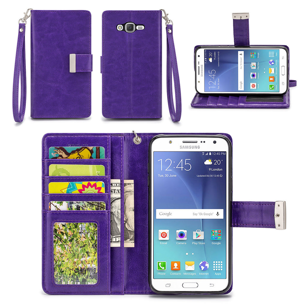 Samsung Galaxy J7 Wallet Phone Case Flip Cover