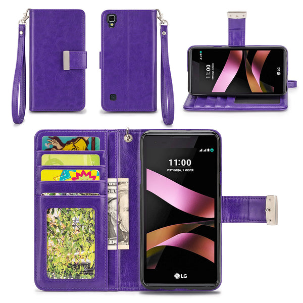 LG Tribute HD / LG X Style Wallet Phone Case Flip Cover