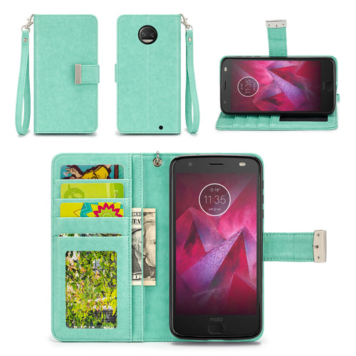 Motorola Moto Z2 Force Edition Wallet Phone Case Flip Cover