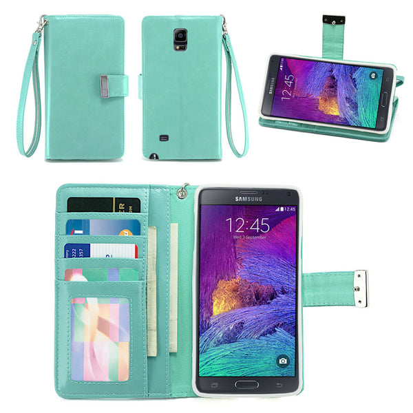 Samsung Galaxy Note 4 Wallet Phone Case Flip Cover