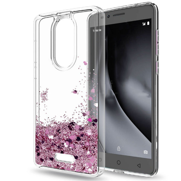 premium selection 82569 2a2f9 T-Mobile REVVL Plus Waterfall Glitter Phone Case Cover
