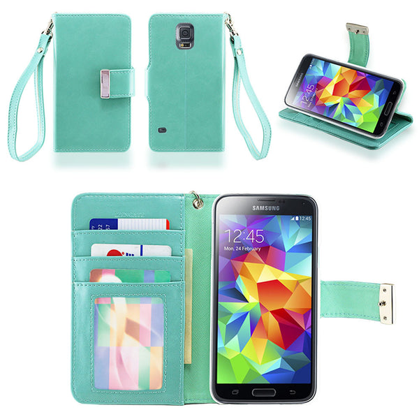 Samsung Galaxy S5 Wallet Phone Case Flip Cover