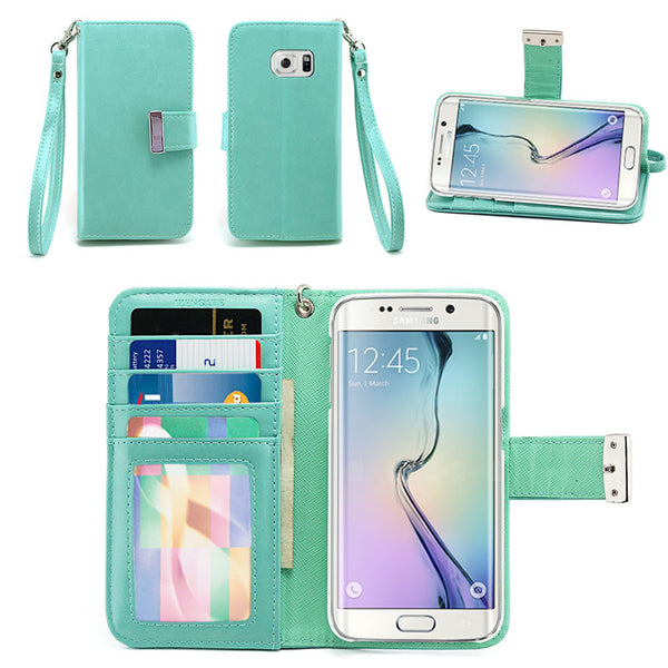 Samsung Galaxy S6 Edge Wallet Phone Case Flip Cover