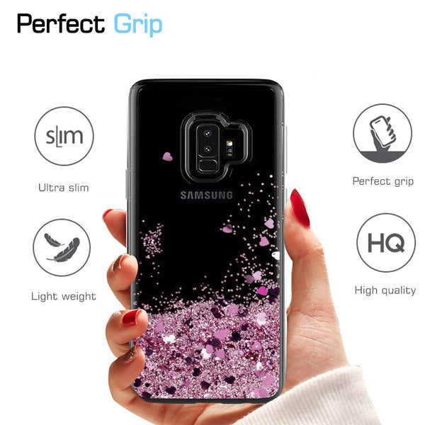 Samsung Galaxy S9 Waterfall Glitter Phone Case Cover