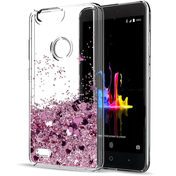 new style 15d1e c4b68 ZTE Blade Z Max Waterfall Glitter Phone Case Cover