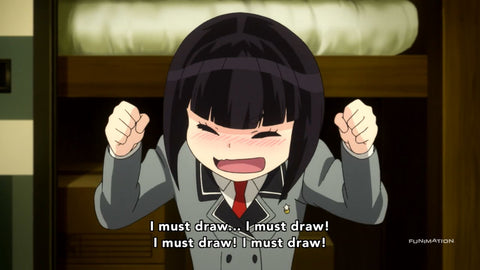 Do you know someone like this? Replace draw with write, and there I am.