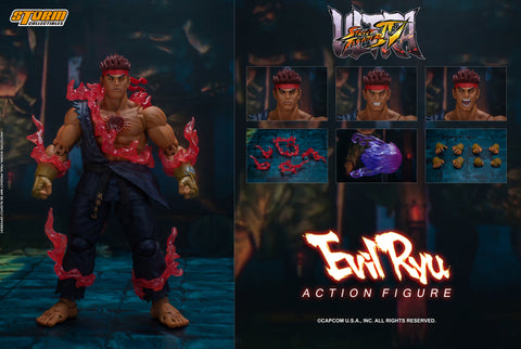 Evil Ryu - Storm Collectibles Action Figure - Ultimate Street Fighter IV