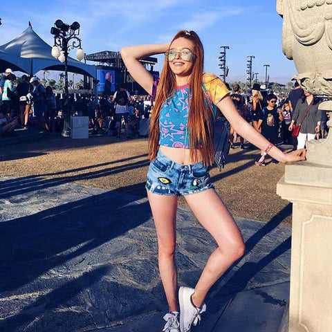 Larsen Thompson in Mamadoux at Coachella