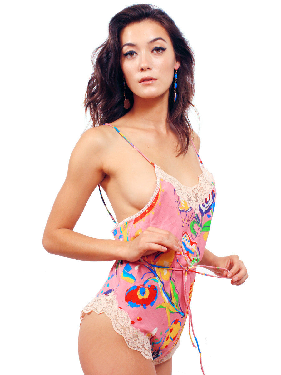Abstract Floral Romper