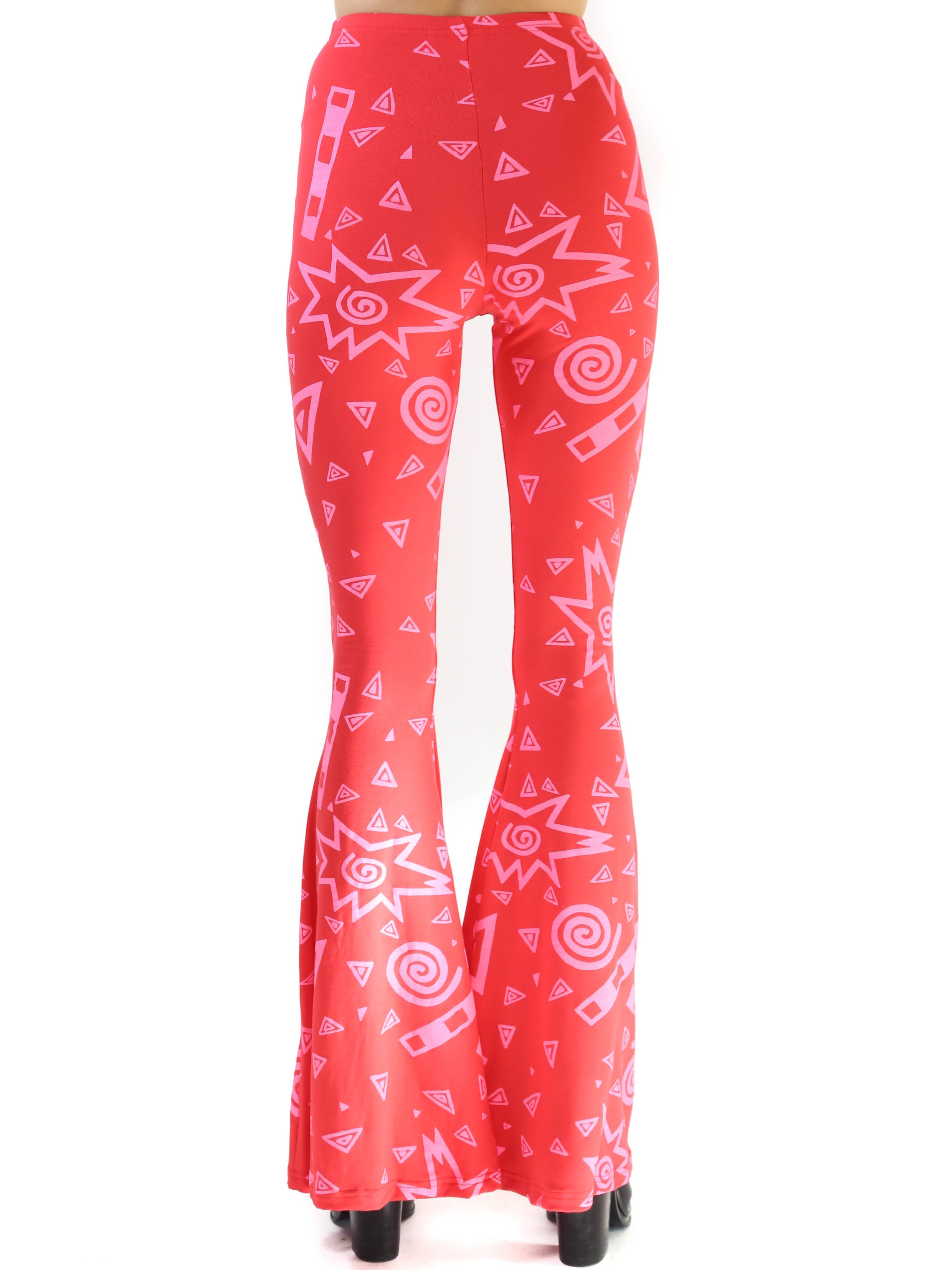 Art School Bell Bottoms- Red