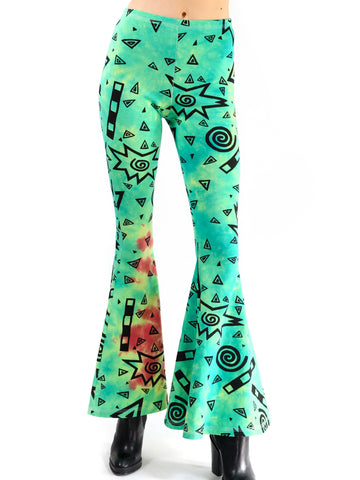 Art School Bell Bottoms- Teal