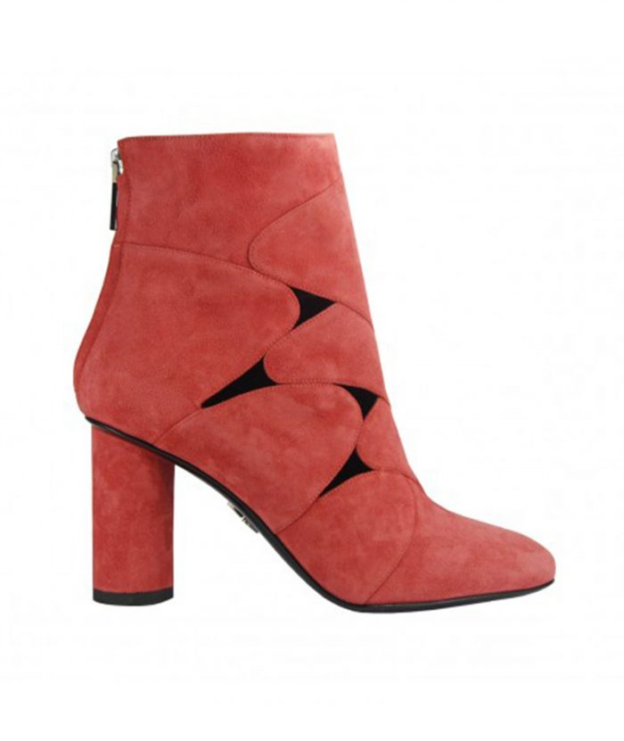 Luisa Tratzi shoe, ankle model, wide and geometric heel boots
