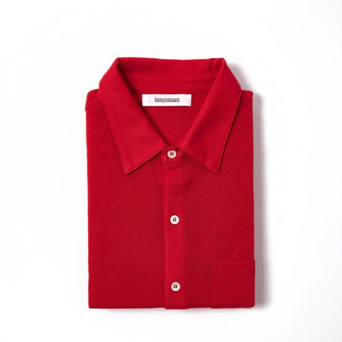 Bellariva Red - Lungomare. 100% cashmere made in Italy shirt.