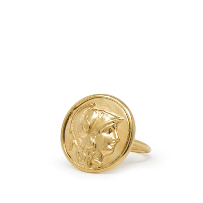 Athena Gold-plated Ring - Vintouch. Athena ring is part of the Roma collection, inspired by the Greco-Roman world.