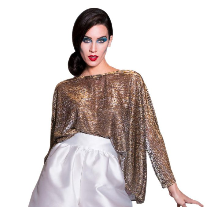 gold-colored chiara perrot blouse
