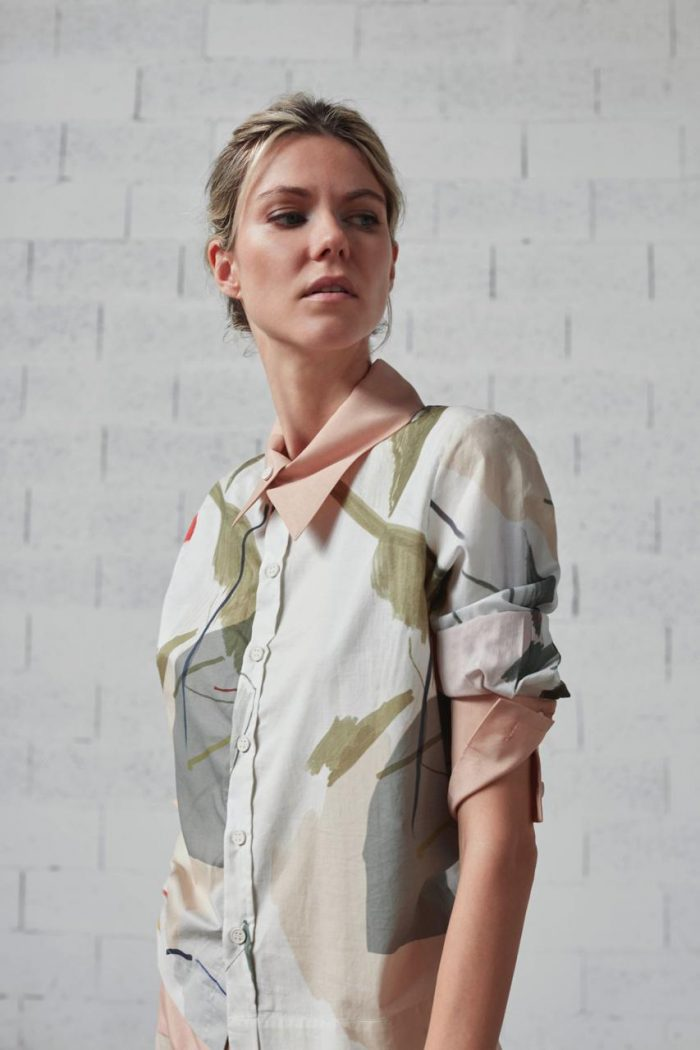 gray jumpsuit with bow bav tailor spring summer 2020 collection