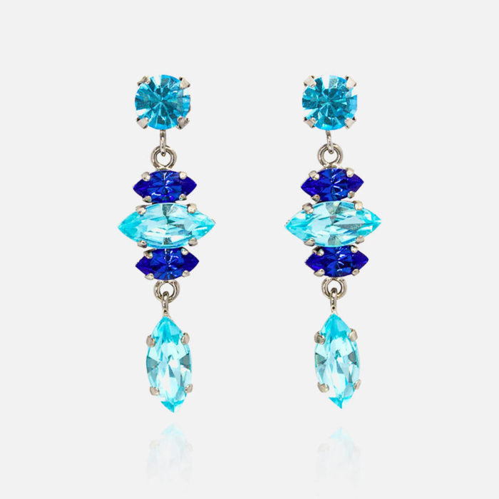 rosaspina pendant earrings with blue stones