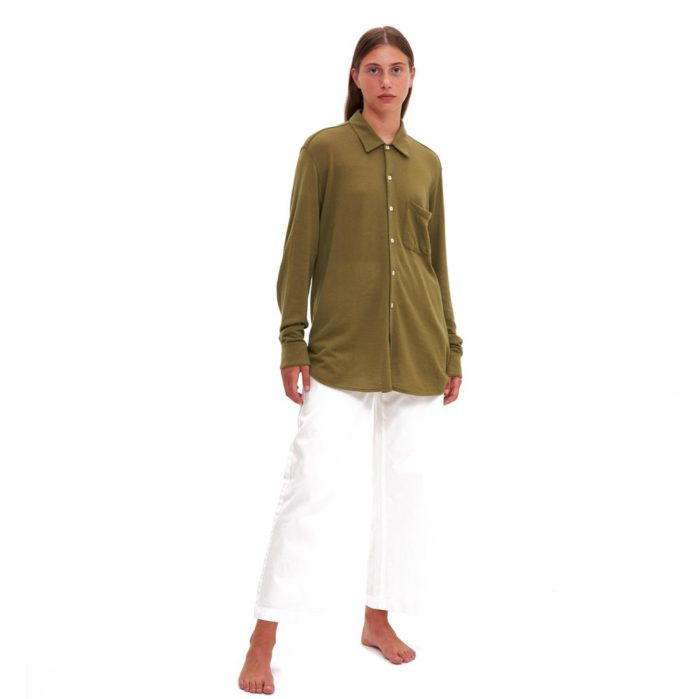 lungomare green cashmere shirt