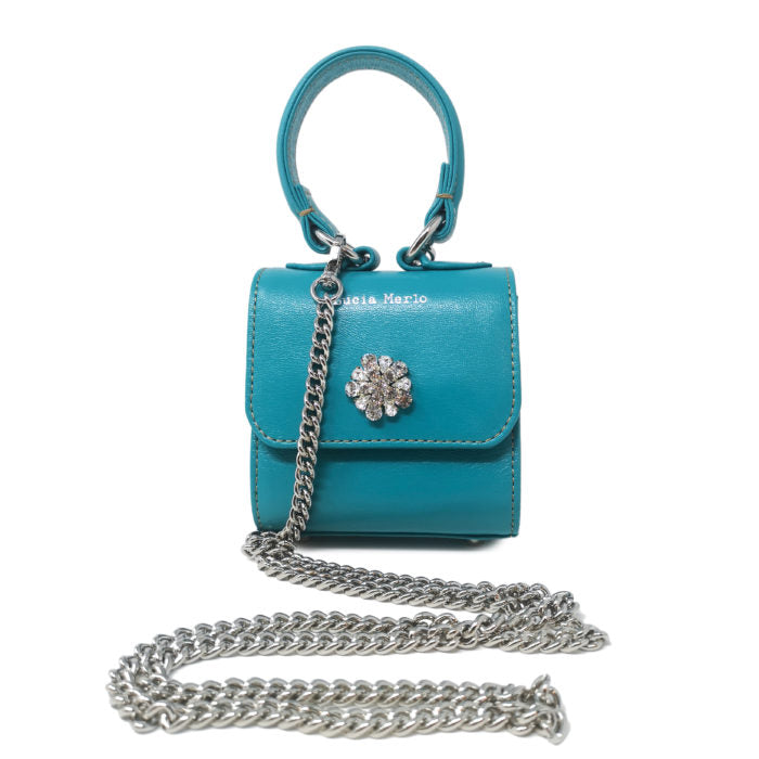 mini turquoise bag by lucia merlo bags