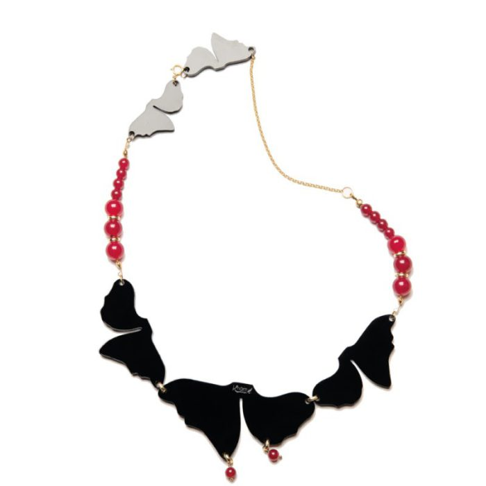 black and red necklace kharm design