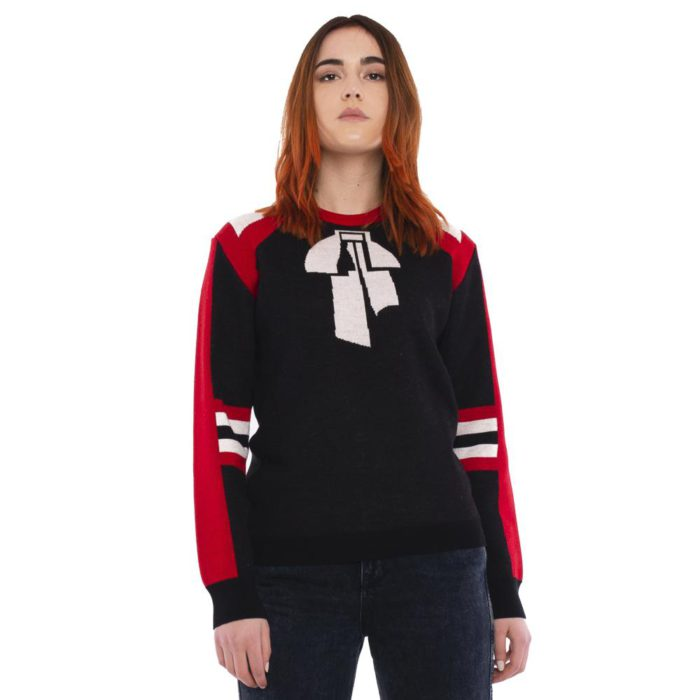 sweater with bow design msgm