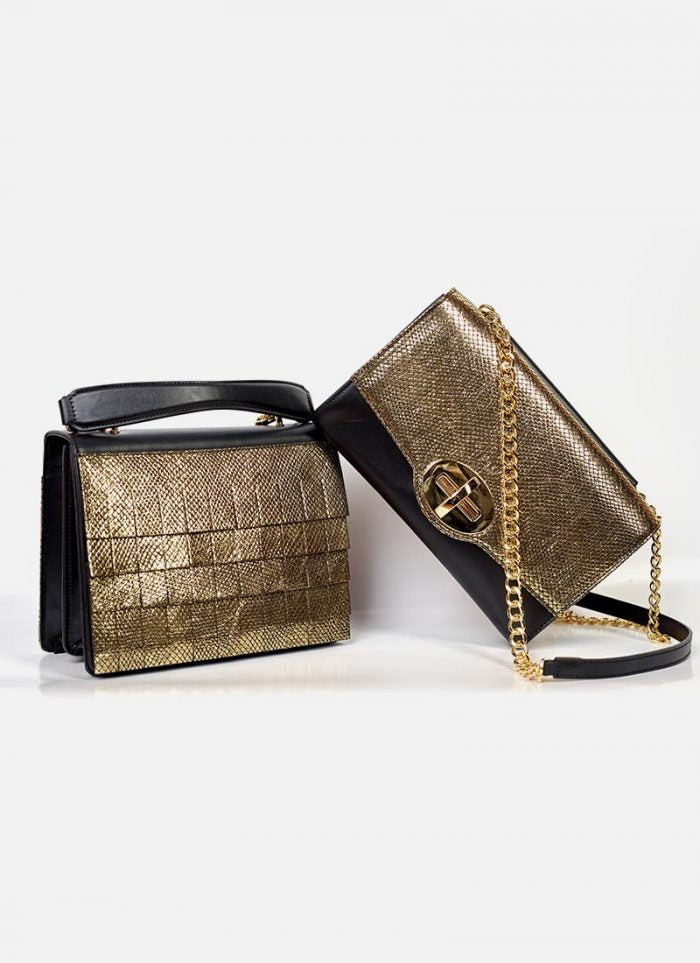 Pica Bags two variants in gold-black coloring