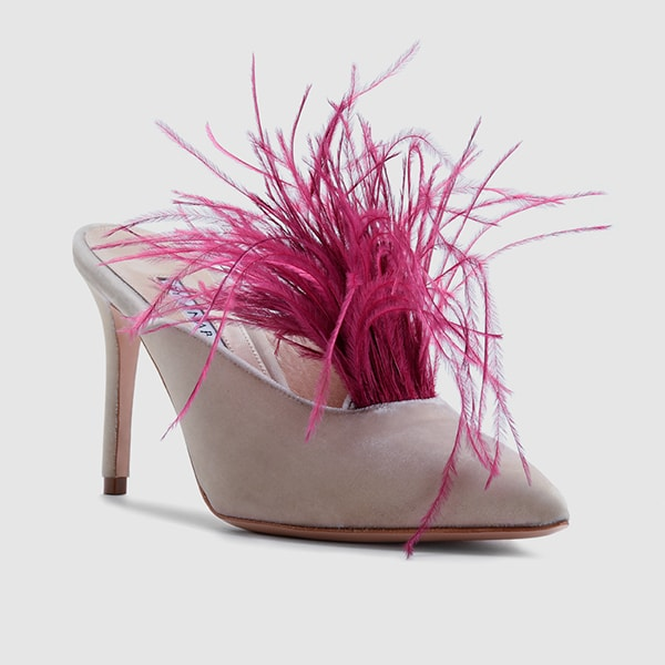 A by Annabelle shoes with feathers