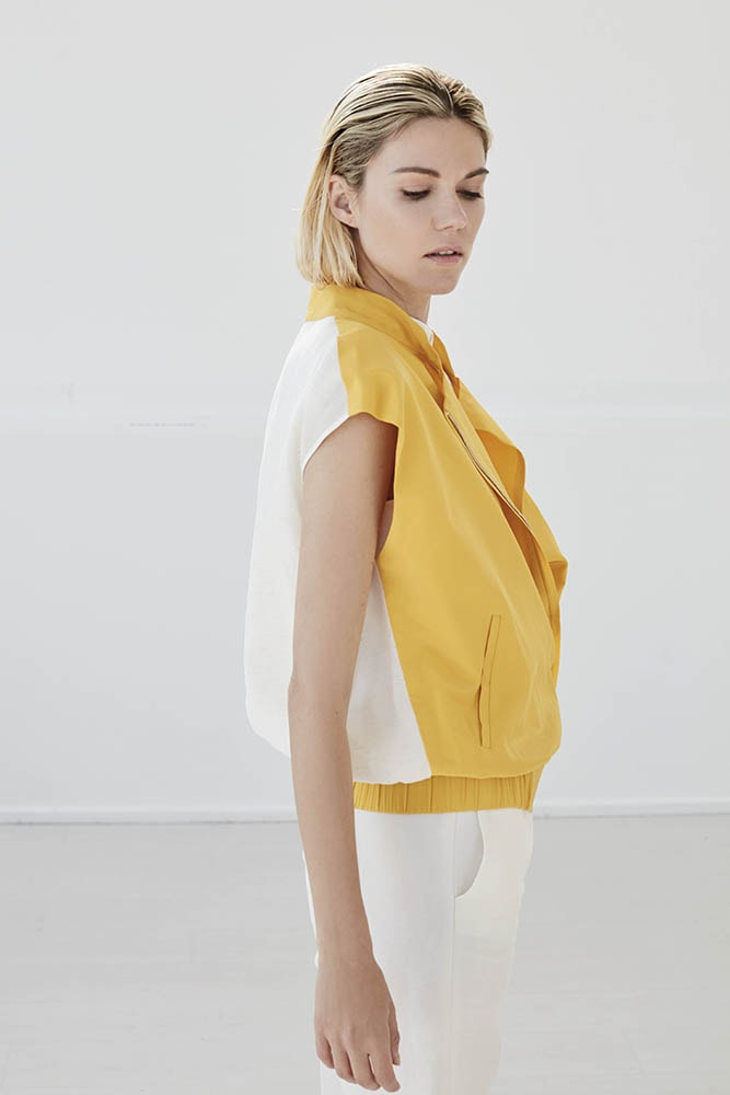 white and yellow shirt by bav tailor