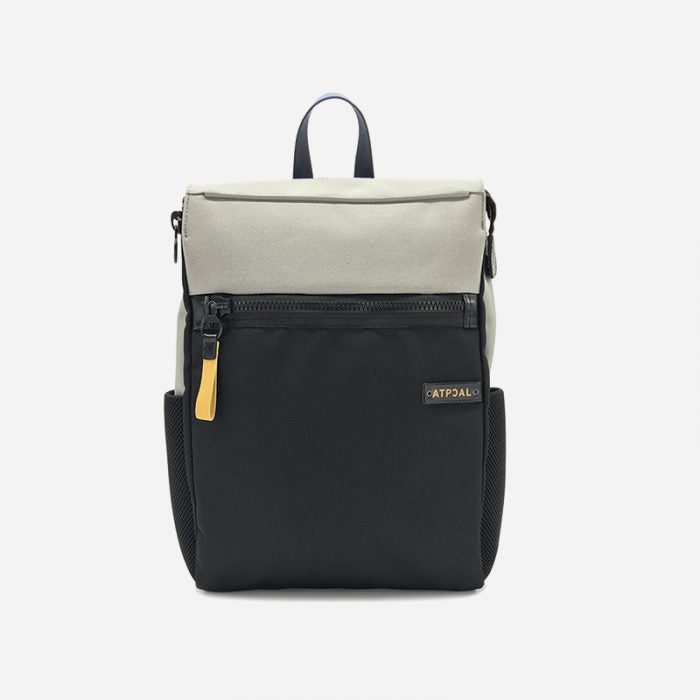 The Gift, the perfect gift for Him: Atpcal backpack, spacious two-toned with front zipper and side pockets.