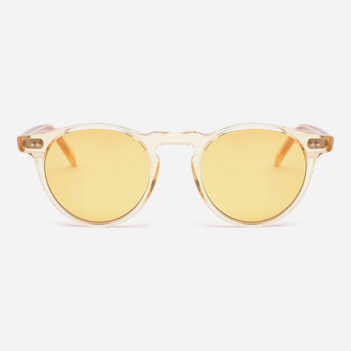 The Gift, the perfect gift for Him: sunglasses by Rewop, frame and lenses of a pale yellow.