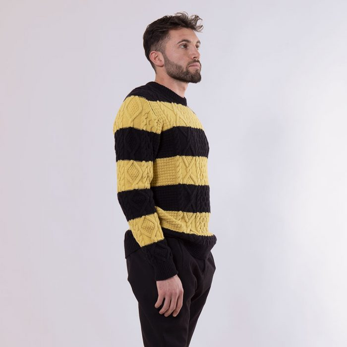 Camarche black and yellow striped sweater