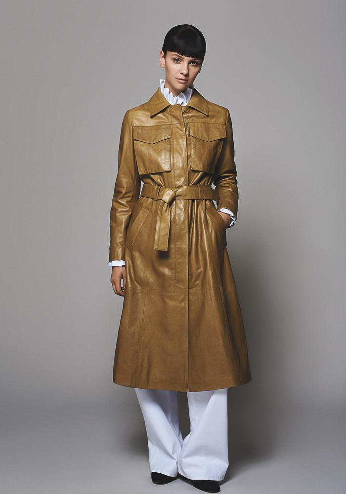 Leather trench coat by The Al