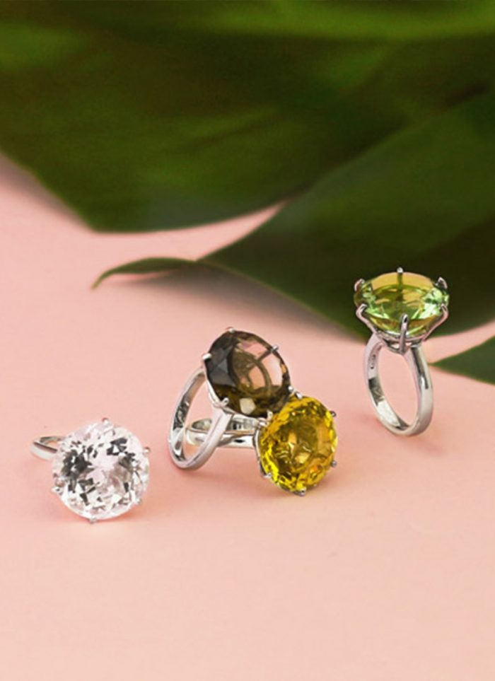 White Women's Collections + Accessories: Ab-Ove rings