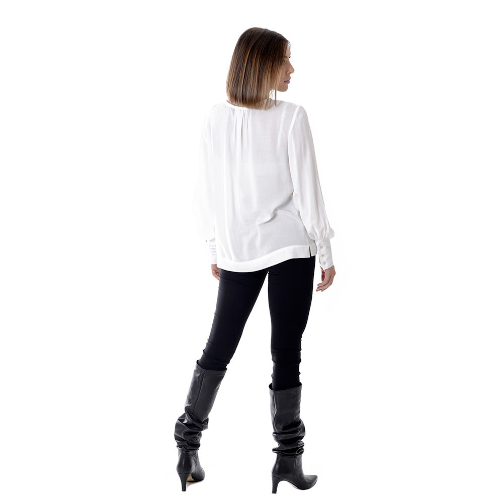 Bamboo Shirt - Ma Vie. Bamboo shirt with a versatile and feminine cut