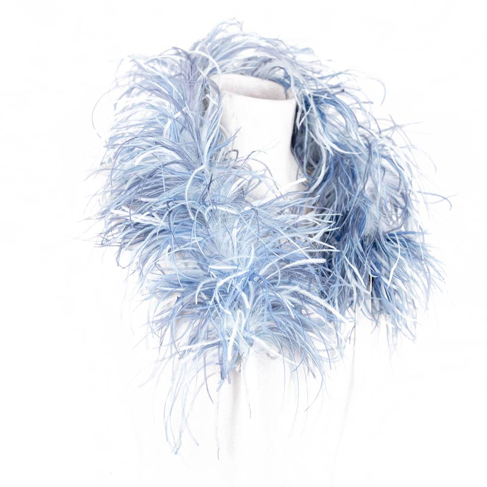 Becka Ostrich Scarf - Nan√Ý Firenze.¬ÝPut more-is-more styling on¬Ýyour agenda with this texturally¬Ýintriguing feather scarf from Nan√ݬÝFirenze.¬Ý