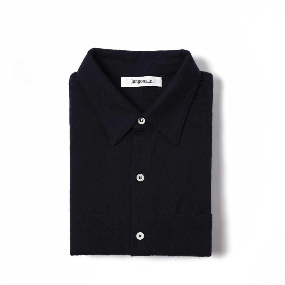 Bellariva Black - Lungomare.¬Ý100% cashmere made in Italy shirt.