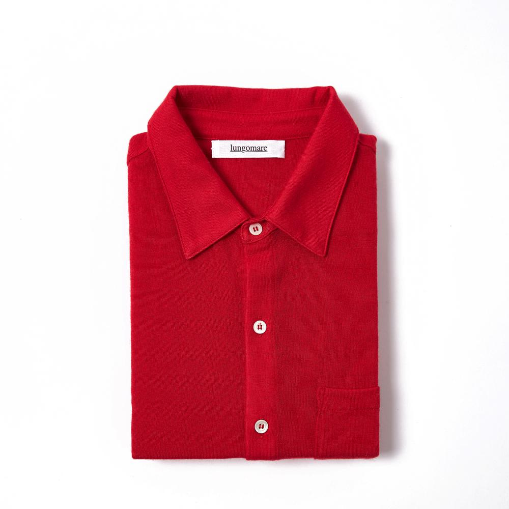 Bellariva Red - Lungomare.¬Ý100% cashmere made in Italy shirt.¬Ý
