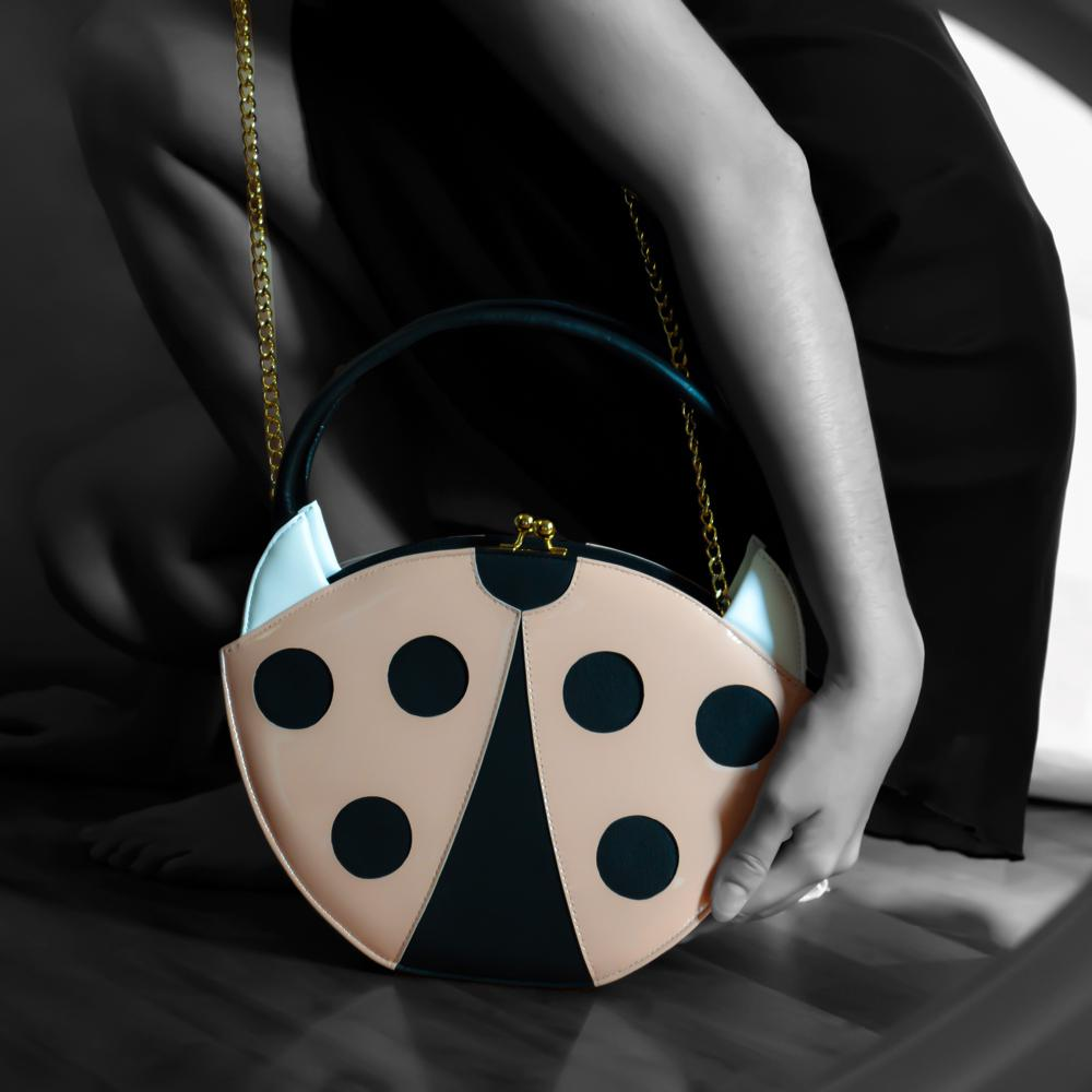 Ladybug Pink Bag - Gioa Fashion Designer.¬ÝJaleela, the funny ladybug bag, from the lucky charm collection, is an italian handmade product.