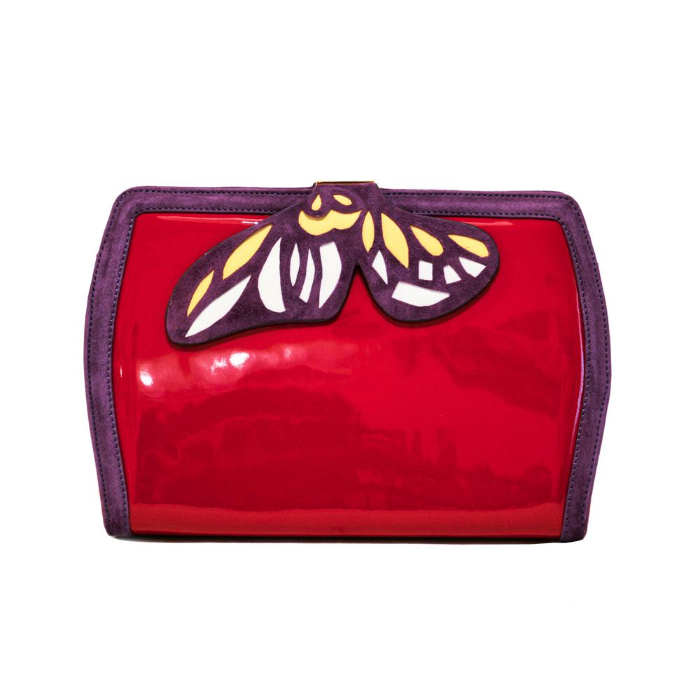 Butterfly Red Bag - Gioa Fashion Designer.¬ÝLilah, the refined butterfly bag, from the lucky charm collection, is an italian handmade product.