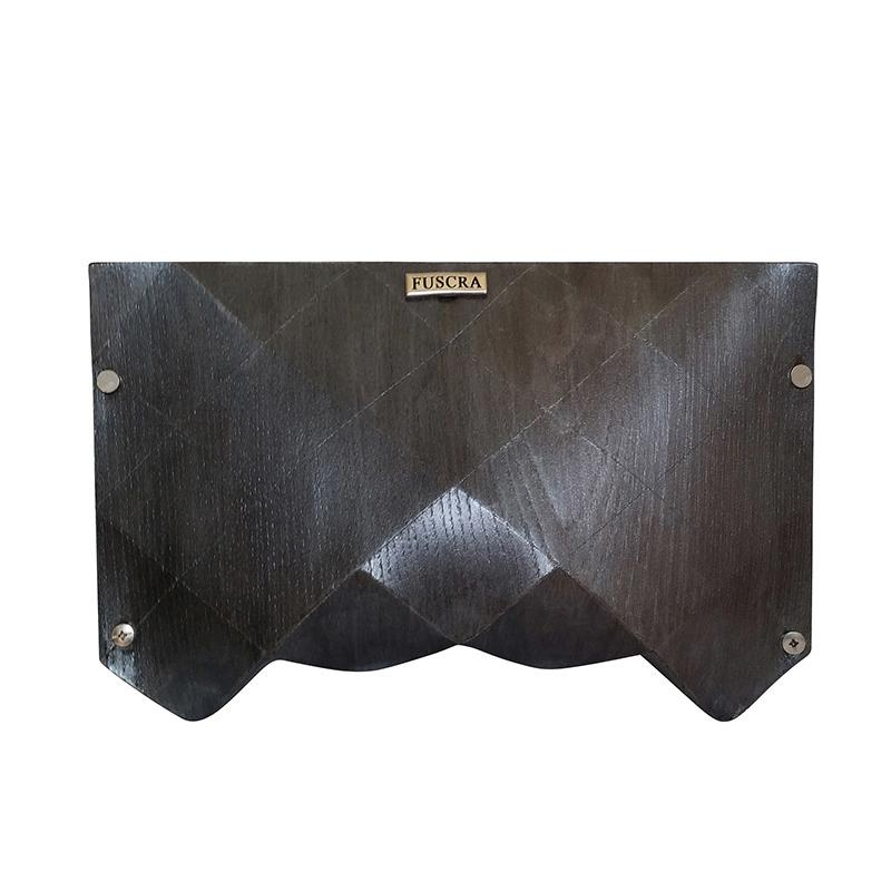 Origami Wooden Silver Clutch