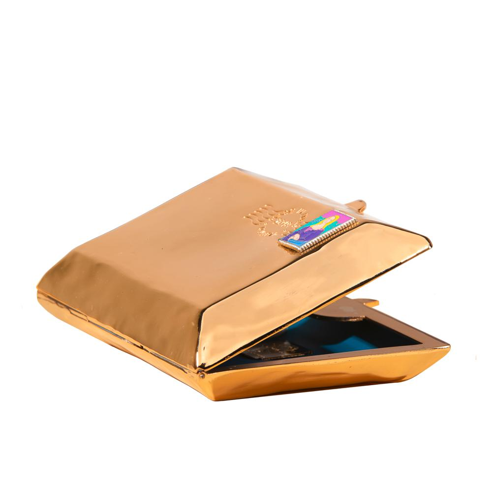 Love Letter Gold - Virginia Severini.¬ÝClutch in gold plated copper stamp, all handmade.