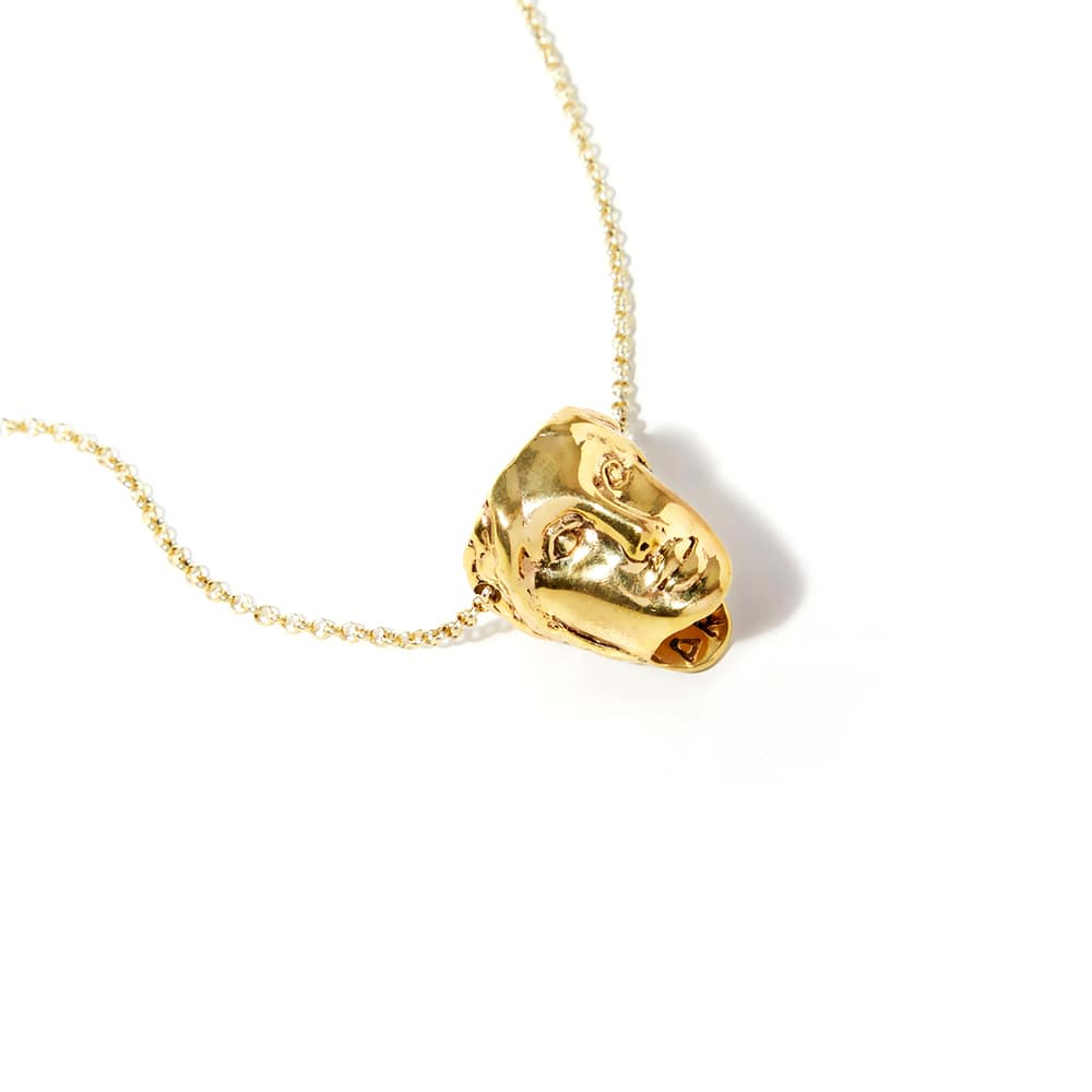 Baia Golden Necklace - Dea Rail.¬ÝNecklace handmade in 18 kt gold-plated bronze.